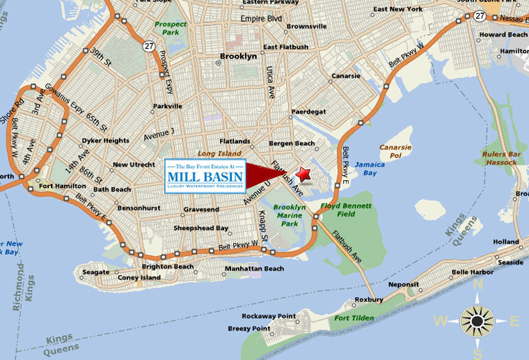 old mill basin brooklyn map New Homes Map Bay Front Estates Mill Basin Luxury Waterfront old mill basin brooklyn map