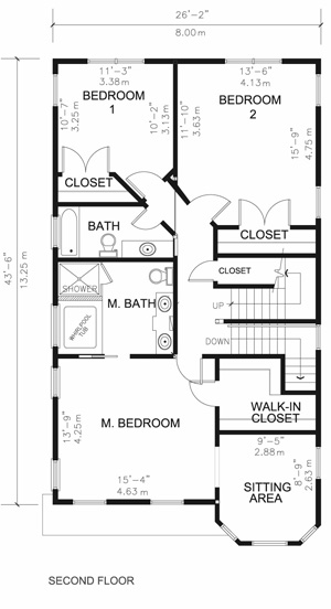 Second floor plan luxury house
