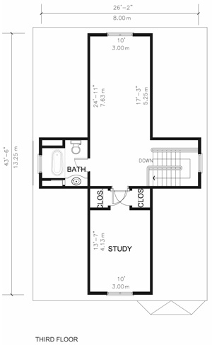 Executive home third floor plan